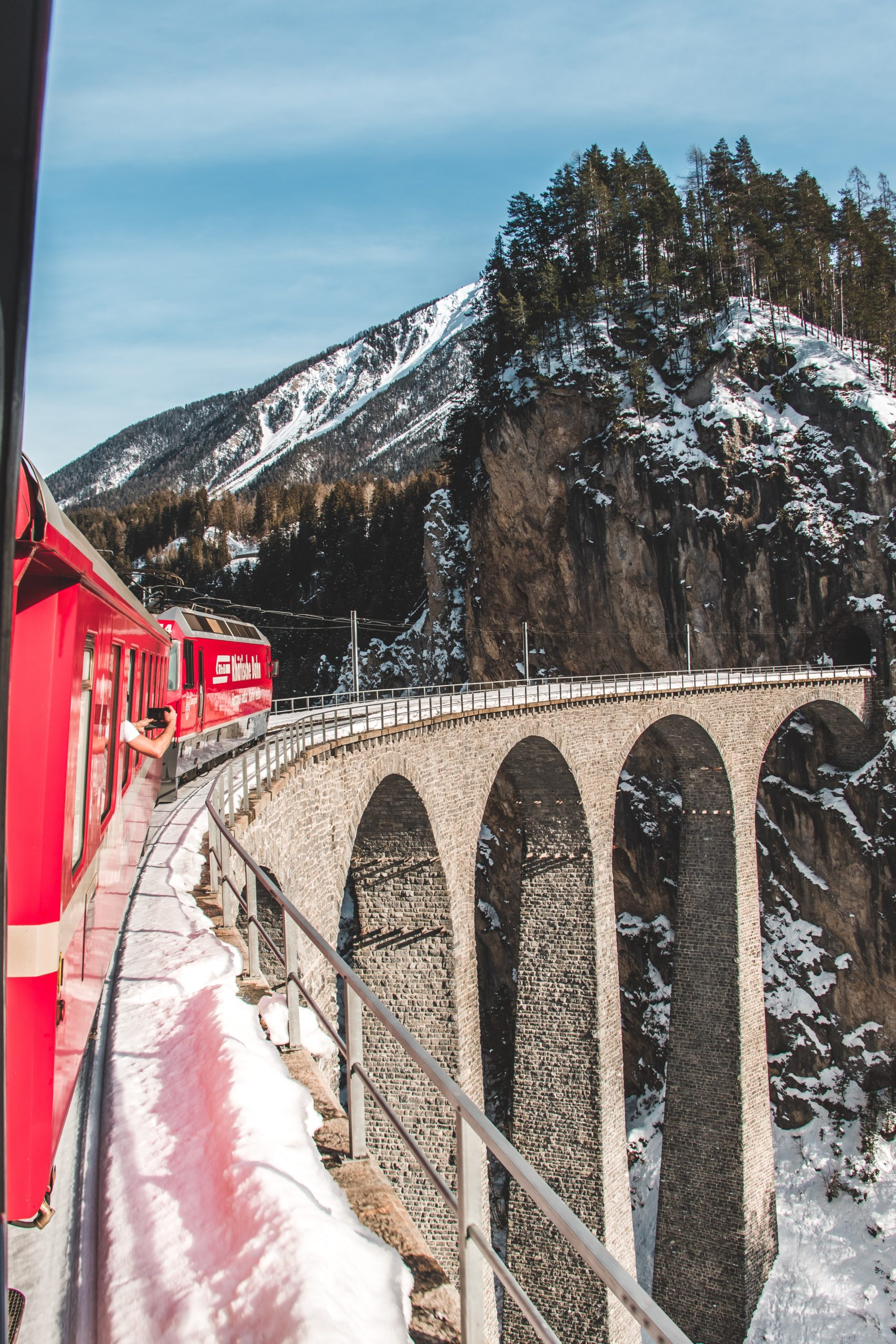 Travel with a scenic train